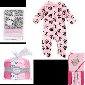 New Baby Girl Bundle W/Minnie Sleeper. Save w/Four